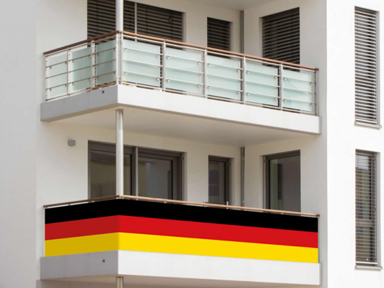 Balkon Umrandung Deutschland Osen Kabelbinder Deutschlandfahne