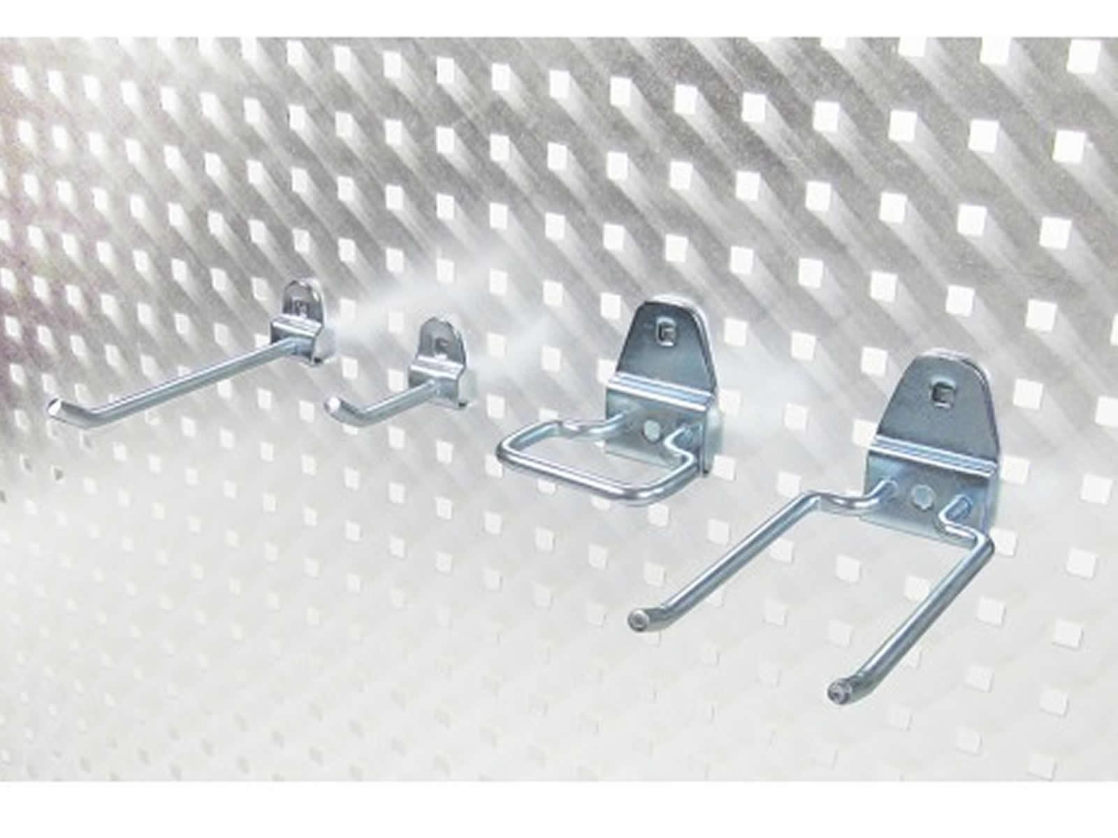 werkstattwand werkstatt lochwand hakensortiment haken f r werkzeuge mit zubeh r ebay. Black Bedroom Furniture Sets. Home Design Ideas